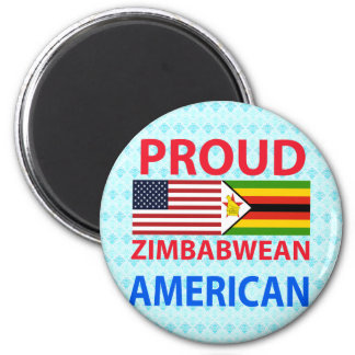 Proud Zimbabwean American Fridge Magnet