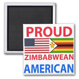 Proud Zimbabwean American Refrigerator Magnet