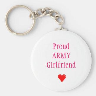 ProudARMYGirlfriend Basic Round Button Keychain