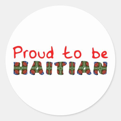 proudhaitian01r pegatina redonda