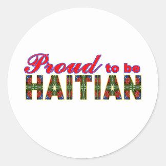proudhaitian02r classic round sticker