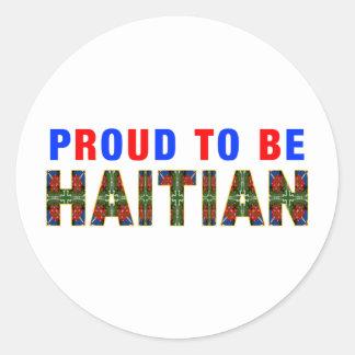 proudhaitian03 classic round sticker