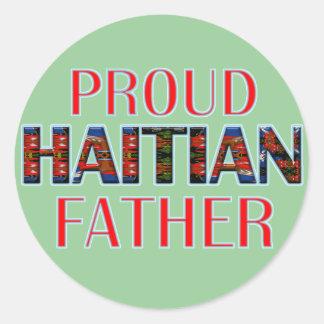 proudhaitiandad01 classic round sticker