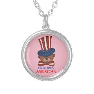 """Proudly American""""Necklace Silver Plated Necklace"""