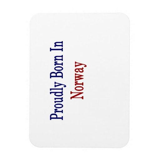 Proudly Born In Norway Rectangular Photo Magnet