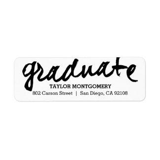 Proudly Brushed Editable Color Graduation Label Return Address Label
