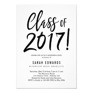 Proudly Brushed Graduation Party Invitation