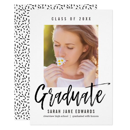 Proudly Brushed Graduation Photo Announcement