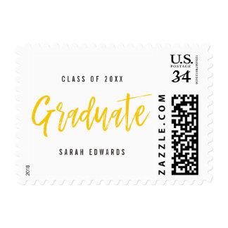 Proudly Brushed Graduation Postage