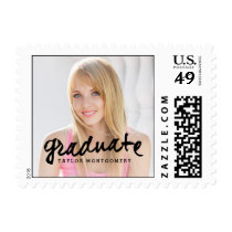 Proudly Brushed Graduation Postage Stamp