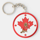Proudly Canadian Beaver Keychain