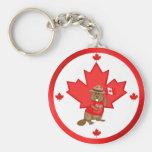 Proudly Canadian Beaver Keychain