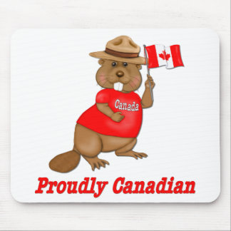 Proudly Canadian Beaver Mouse Pads