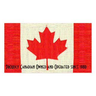 Proudly Canadian Business Stitched Style Flag Business Cards