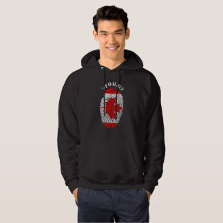 Proudly Canadian Flag Fingerprint High Quality Hoodie