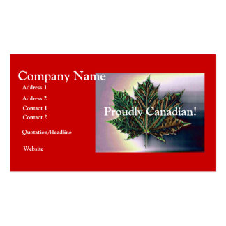 Proudly Canadian!-Maple Leaf Business Cards