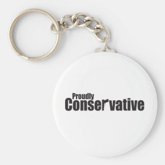 Proudly Conservative Basic Round Button Keychain
