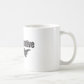 Proudly Conservative with Eagle Classic White Coffee Mug