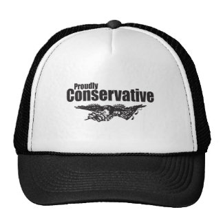 Proudly Conservative with Eagle Mesh Hats
