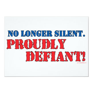 Proudly Defiant 2 5x7 Paper Invitation Card