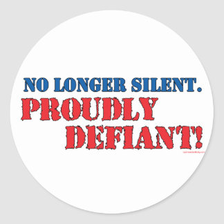 Proudly Defiant 2 Classic Round Sticker