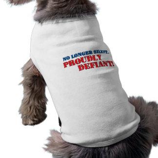 Proudly Defiant 2 Dog T-shirt
