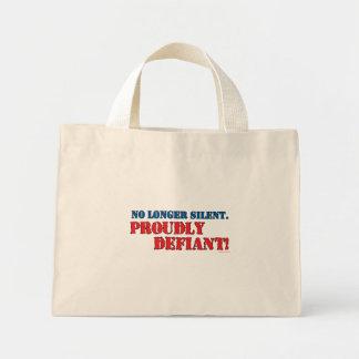 Proudly Defiant 2 Mini Tote Bag