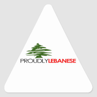 Proudly Lebanese, Lebanese And Proud - Lebanon Triangle Sticker