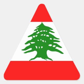 Proudly Lebanese - Proud To Be Lebanese - Lebanon Triangle Sticker