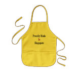 Proudly Made In Singapore Kids' Apron