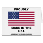 Proudly Made In The USA Greeting Cards