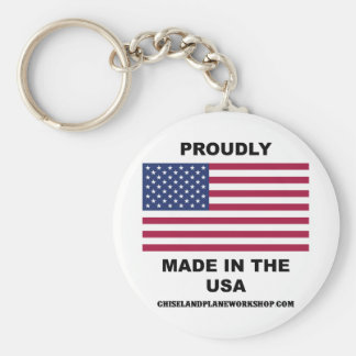 Proudly Made In The USA Keychain