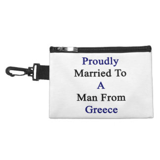 Proudly Married To A Man From Greece Accessories Bags