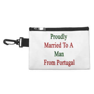 Proudly Married To A Man From Portugal Accessories Bags