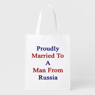 Proudly Married To A Man From Russia Market Totes