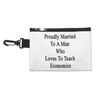 Proudly Married To A Man Who Loves To Teach Econom Accessory Bags