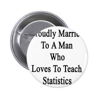 Proudly Married To A Man Who Loves To Teach Statis Button
