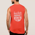 proudly muslim sleeveless t-shirt
