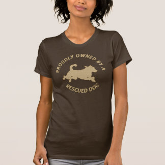 Proudly Owned by a Rescue Dog 28 Tee shirt