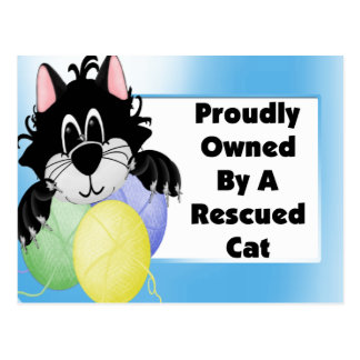 Proudly Owned By A Rescued Cat Postcards
