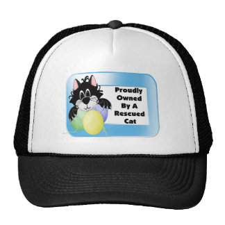 Proudly Owned By A Rescued Cat Trucker Hat