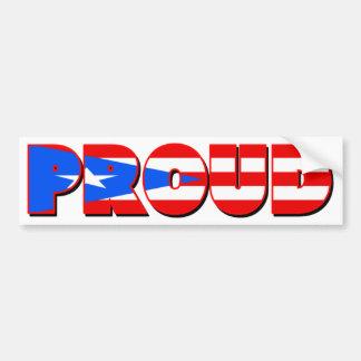 Proudly Puerto Rican Car Bumper Sticker