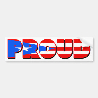 Proudly Puerto Rican Car Bumper Sticker