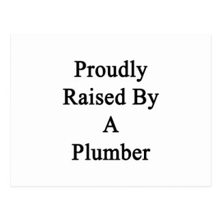 Proudly Raised By A Plumber Postcard