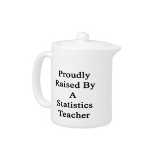 Proudly Raised By A Statistics Teacher Teapot
