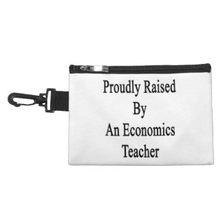 Proudly Raised By An Economics Teacher Accessories Bags