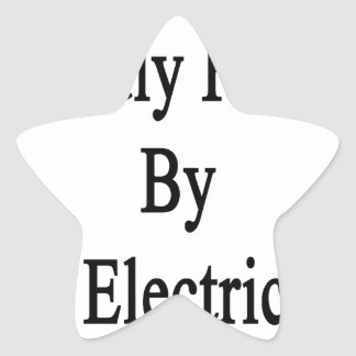 Proudly Raised By An Electrician Star Sticker