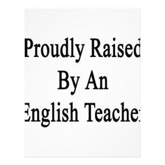 Proudly Raised By An English Teacher Letterhead