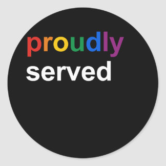proudly served classic round sticker