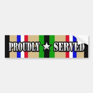 Proudly Served / Desert Storm Bumper Sticker